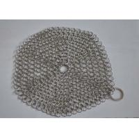 China Custom Pan Stainless Steel Chainmail Scrubber 10mm Outside Diameter , Eco Friendly on sale