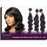 China Long Wavy Remy Brazilian Virgin Human Hair Extensions Natural Black wholesale