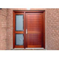 China Elegant Modern Solid Wood Entrance Doors , Solid Wood Interior Doors With Glass wholesale