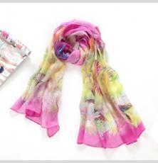 China Silk Chiffon digital Printing Rectangular Scarf on sale