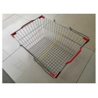 China Stackable And Wire Hand  Shopping Basket , Durable Metal Shopping Basket wholesale