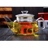 Mouth Blown Glass Teapot With Infuser Microwave Safe 1000ml Customized logo