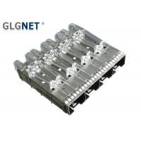 China Female Gender SFP Cage Connector 1x4 10G Ethernet Press Fit Without Heat Sink wholesale