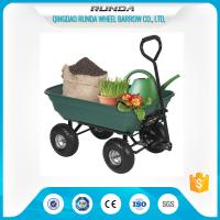 China 75 Liters Wheeled Garden Mesh Cart , 4 Wheel Garden Trolley Robust Tray TC2135 wholesale