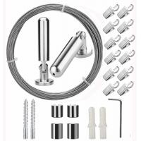 China 5 Meters Window Curtain Stainless Steel Wire Rope Assemblies With 20 Clips wholesale