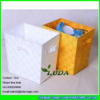 China LDKZ-002 wholesale straw basket hand weaving pp yard storage boxes and bins on sale
