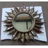 "18"" crown shape metal framed decorative wall mirror"