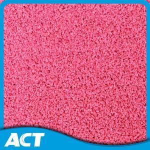 Less Seaming Fastness Fake Grass Carpet , Thick Soft  Pink Artificial Grass Mat