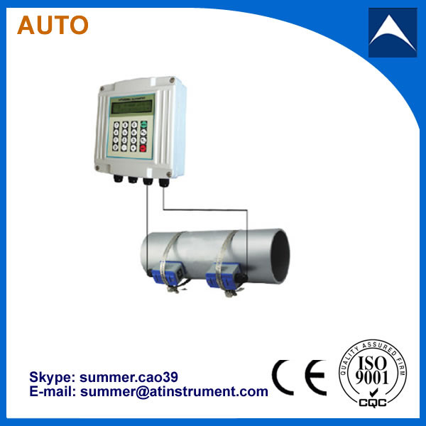 Quality wall mounted Ultrasonic Flowmeter/ ultrasonic transducer flow meter for sale