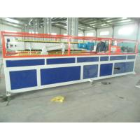 China PP / PE Deck Plastic Profile Extrusion Line , WPC Tray Profile Extrusion Machinery wholesale