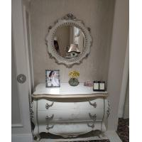 China Modern Classic French Furniture Dressing Table Mirror Full Solid Wood Frame Carving Roses on sale