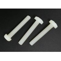 China M5X20 Cross Recess Round Head White Plastic Nylon Screws with Flat Point wholesale