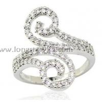 China cz rings jewelry, 925 silver rings wholesale