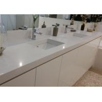 China White Artificial Stone Bath Vanity Tops With Sink Eased Edges wholesale