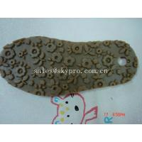 China Professional TPR rubber outsole Shoe Sole Rubber Sheet , flower pattern wholesale