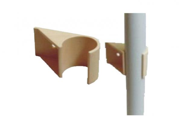 Quality Beige Plastic Coated Plumbing Fittings For DIY Pipe Rack System for sale