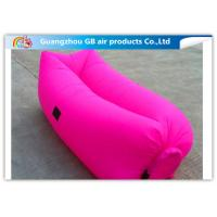 China Colorful Inflatable Sleeping Bag / Soft Air Sofa Bed With Inflatable Mattress on sale