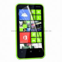 China Clear Screen Protector for Nokia Lumia 620, with 0.12 or 0.06mm Thickness, Made of PET wholesale