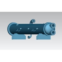 China 3000kw shell and tube condenser titanium tube for marine use R410a on sale