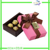 China Ribbon Collapsible Chocolate Gift Boxes , rectangle chocolate packaging box wholesale