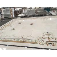 China Luxury Water Ject Stone Mosaic Tile , Interior Marble Inlay Design Hall Floor Tiles wholesale