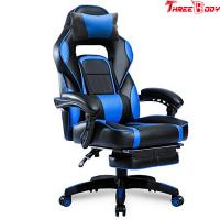 China PU Leather Executive Racing Office Chair Ergonomic Headrest High Density Foam Seat wholesale