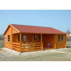 Buy cheap Una casa de madera al aire libre del piso en grueso de pared de 36m m 72m m 110m m from wholesalers
