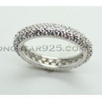 China 925 sterling silver ring, lady's circle ring wholesale