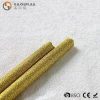 Buy cheap Gold Glitter LED Taper Candles With Timer , Flameless Real Wax Candle from wholesalers