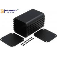 China Black Color Custom Extruded Aluminum Enclosures Anodized Surface Finishing wholesale