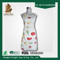 China Womens / Mens Home Cooking Cotton Bib Aprons Vegetable Printed 70x80cm wholesale