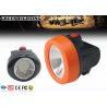 China Lámpara de casquillo minera llevada sin cuerda de 6000 lux, faro del casco de IP68 0.69W wholesale