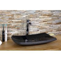 China Black Granite Polished Stone Sink Basin Multiple Styles Contemporary Design wholesale