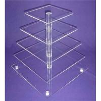 5-Tier Acrylic Bakery Display Case , Cupcake Food Display Stand Rack