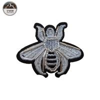 China Iron On Backing Beaded Applique Patches With Bee / Heart Lollipop Shape wholesale