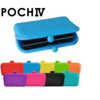China Beautiful Girls Candy Silicone Coin Pouch / Silicone Cosmetic Pouch With Multi Function,Round And Rectangle Available wholesale