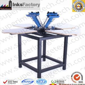 China Screen Printer 4 Color 4 Plates screen printing machine screen printing press semi automatic scree printing machine 4 co on sale
