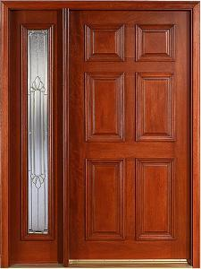 Quality Mahogany Wooden Door (KMG04) for sale