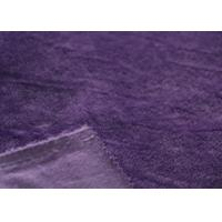 China Environmental Dyed Super Soft Minky Fabric Purple For Clothing wholesale