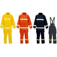 China Multi Color Firemans Suit , 100n Tearing Strength Heat Resistant Suit wholesale