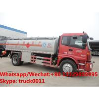 China HOT SALE! good price Foton Auman 4*2 LHD 14m3 bulk oil delivery truck, oil bowser vehicle for sale, fuel tank truck wholesale