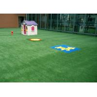 Kids Friendly Spring Artificial Grass For Garden 25mm M Shape Durable 3 Tone