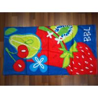 China custom beach towels 100% cotton velour reactive printing beach towels small MOQ on sale