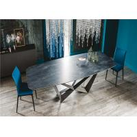 China Customized Size Marble Dining Table Square Shaped Living Room Furniture wholesale