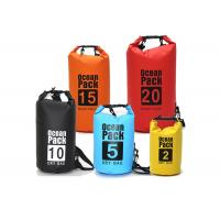 China Outdoor PVC Waterproof Dry Bag Silk Screen Printed , 30l Dry Bags For Sale wholesale