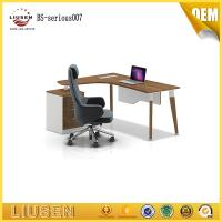 China 2400*1200*750mm oak color MDF manager executive office desk wooden office desk on sale  luxury wholesale