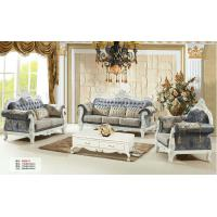 Buy cheap 162 wooden carved Luxury home furniture genuine leather sofa set. 1+2+3 seater from wholesalers