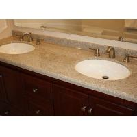 China Brown Marble Eased Edges Bath Vanity Tops Single Double Sink Countertop wholesale
