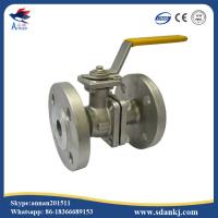 China 2 Pcs Flange connection type Stainless Steel Ball Valve for hot water WCB DN50 PN16 ANSI DIN JIS wholesale