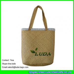 China LUDA wholesale cheap handbags  fashion seagrass straw beach mat bags wholesale